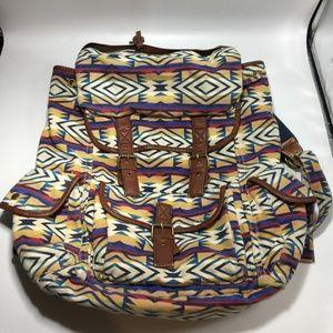 Ecote Boho Tribal Canvas Backpack